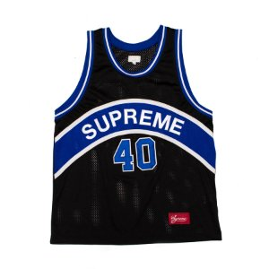 "SUPREME - Regata Curve Basketball Jersey ""Black/Blue"""