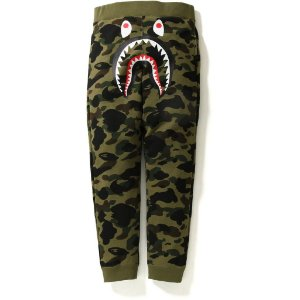 "BAPE - Calça 1ST Camo Shark Slim ""Green"""