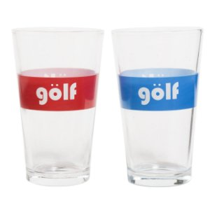 "GOLF WANG - Kit com 2 Copos Euro Golf ""Red/Blue"""