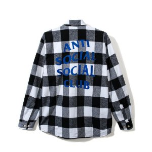 "ANTI SOCIAL SOCIAL CLUB  - Camisa Snowball Flannel ""White/Black"""