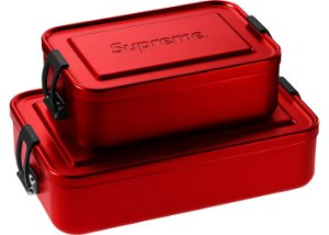 "ENCOMENDA - SUPREME - Caixa Grande SIGG Metal Plus ""Red"""