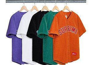 ENCOMENDA - SUPREME - Camiseta Jersey Corduroy Baseball