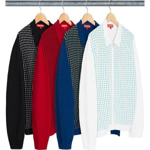 ENCOMENDA - SUPREME - Camisa Dashes Zip Up Knit