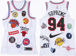 ENCOMENDA - SUPREME X NIKE X NBA - Regata Authentic Jersey