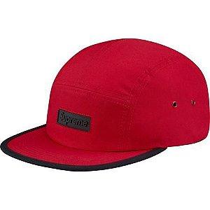 """SUPREME - Boné Rubber Logo """"Red"""""""