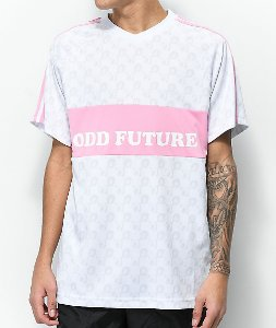 "ODD FUTURE - Camisa Soccer Jersey Checker ""White/Pink"""