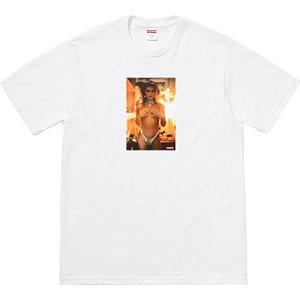"Supreme x Nan Goldin - Camiseta Kim In Rhinestone  ""White"""