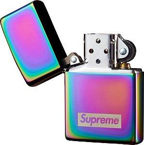"Supreme x Zippo - Isqueiro Iridescent ""Silver"""