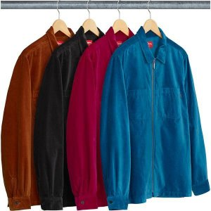 ENCOMENDA - SUPREME - Camisa Velvet Zip Up