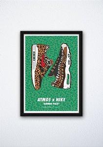 POSTER - Air Max 1/95 Atmos Animal Print (COM MOLDURA)