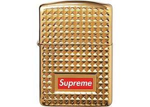 "ENCOMENDA - Supreme x Zippo - Isqueiro Diamond Cut ""Gold"""