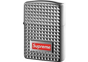 """ENCOMENDA - Supreme x Zippo - Isqueiro Diamond Cut """"Silver"""""""