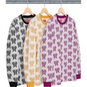 ENCOMENDA - SUPREME - Camiseta De Malha Butterfly Jacquard