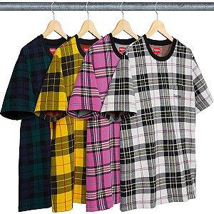 ENCOMENDA - SUPREME - Camiseta Jacquard Tartan Plaid