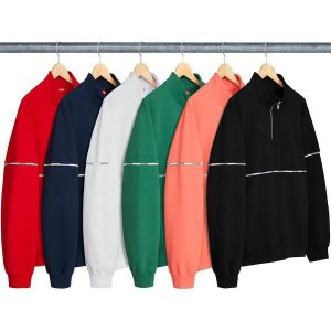 ENCOMENDA - SUPREME - Moletom Logo Piping Half Zip