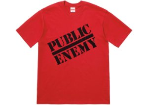"Supreme x UNDERCOVER x Public Enemy - Camiseta Public Enemy ""Red"""