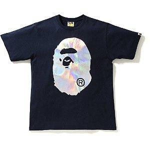 "BAPE - Camiseta Hologram Big Ape Head ""Navy"""