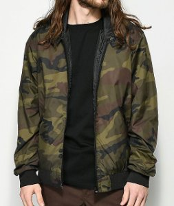 "THRASHER - Jaqueta Reversible (Dupla Face) ""Camo/Black"""