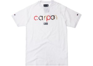 """KITH X Champion - Camiseta Double Script Logo """"White"""""""