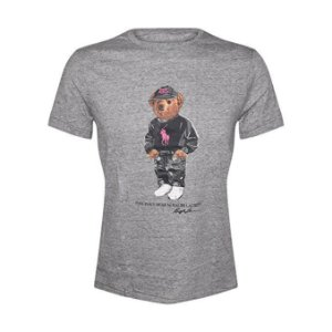"Polo Ralph Lauren - Camiseta Polo Bear ""Grey/Pink"""