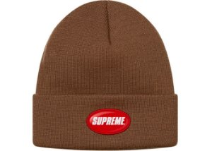 "SUPREME - Touca Rubber Patch ""Brown"""