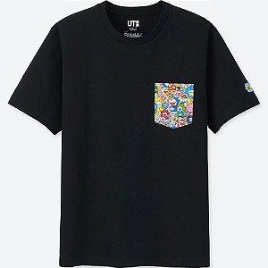 "UNIQLO X Takashi Murakami - Camiseta Doraemon Flowers ""Black"""