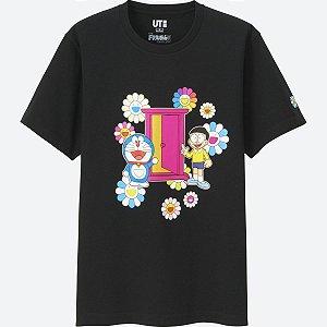"""UNIQLO X Takashi Murakami - Camiseta Doraemon Door """"Black"""""""