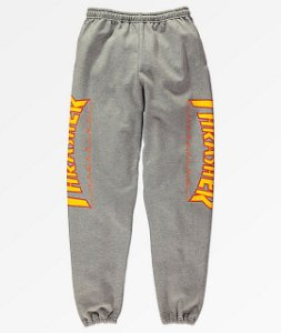 "THRASHER - Calça Flame Logo ""Grey"""