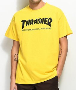 "THRASHER - Camiseta Skate Mag ""Yellow"""