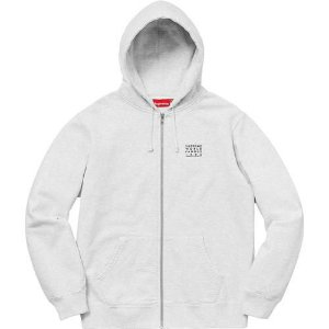 "SUPREME - Moletom World Famous Zip Up ""Grey"""