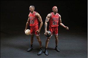 ENCOMENDA  - Enterbay - Conjunto Dennis Rodman & Scottie Pippen 1/9