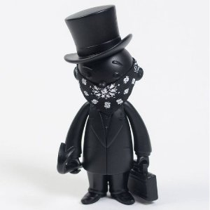 "ENCOMENDA - BAIT X MONOPOLY X SWITCH COLLECTIBLES MR PENNYBAGS ""BLACK"""