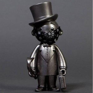 "ENCOMENDA - BAIT X MONOPOLY X SWITCH COLLECTIBLES MR PENNYBAGS ""SILVER"""