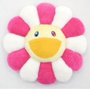 "ENCOMENDA - KAIKAI KIKI - Pelúcia Murakami Flower Cushion ""Pink & Yellow"""
