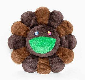 "ENCOMENDA - KAIKAI KIKI - Pelúcia Murakami Flower Cushion - 60CM ""Brown"""