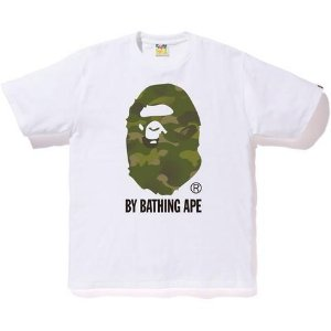"BAPE - Camiseta Ape Head Gradation ""White"""