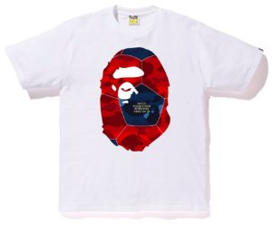 ENCOMENDA - BAPE - Camiseta Color Camo Ape Head BAPE FOOTBALL COLLECTION
