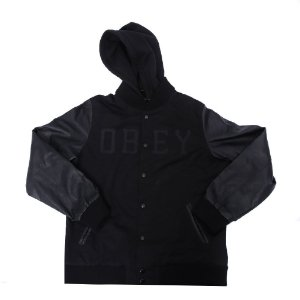 "OBEY - Jaqueta Varsity ""Black"""