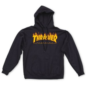 "THRASHER - Moletom Flame Logo ""Black"""