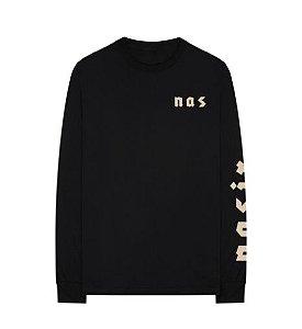 "ENCOMENDA - Nas - Camiseta Nasir Manga Longa ""Black"""
