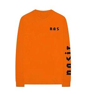 "ENCOMENDA - Nas - Camiseta Symbols Manga Longa ""Orange"""