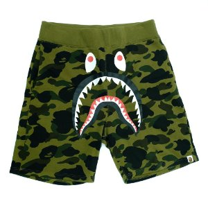 "BAPE - Bermuda Shark Sweat Camo ""Green"""
