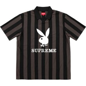 "Supreme x Playboy - Camiseta Soccer Jersey ""Black"""