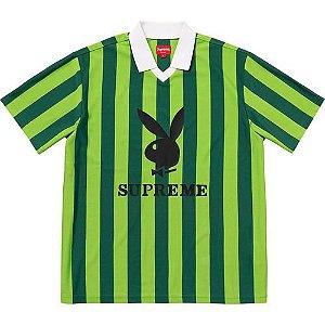 "Supreme x Playboy - Camiseta Soccer Jersey ""Green"""