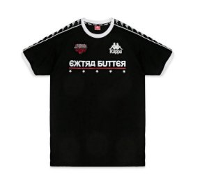 "Kappa x Extra Butter - Camiseta Raul Jersey ""Black"""
