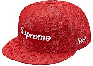"""Supreme x New Era - Boné Monogram Box Logo """"Red"""""""