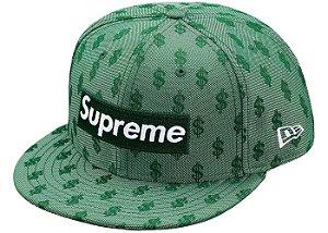 """Supreme x New Era - Boné Monogram Box Logo """"Green"""""""