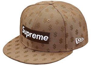 """Supreme x New Era - Boné Monogram Box Logo """"Brown"""""""