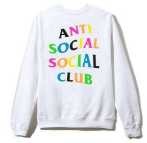 "ANTI SOCIAL SOCIAL CLUB - Moletom Rainbow ""White"""