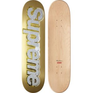 SUPREME - Shape Bling Gold Skateboard Deck